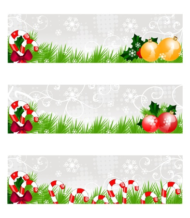 holly day: christmas colorful banners