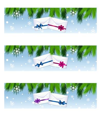 christmas colorful banners Vector