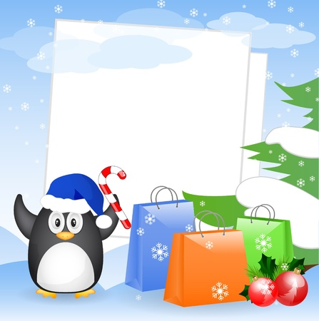 christmas card with place for your text Stock Vector - 10776206