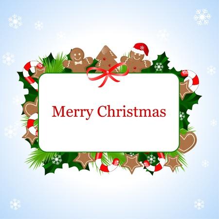 holiday cookies: marco de Navidad  Vectores