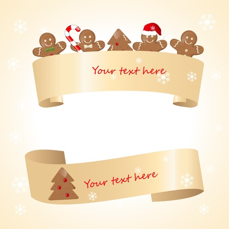 christmas scroll: christmas banners Illustration