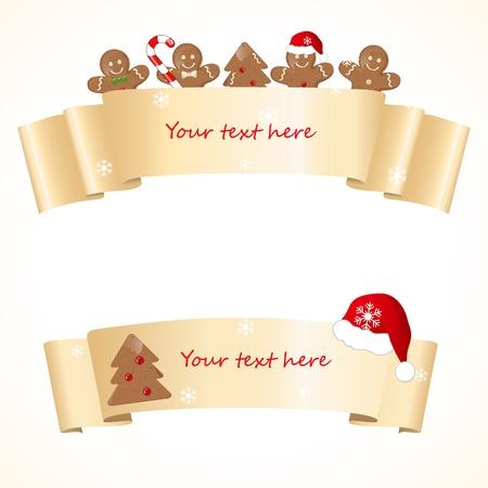 holiday cookies: Navidad banners Vectores