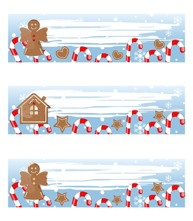 gingerbread house: christmas colorful banners