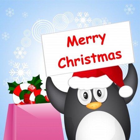 different christmas penguin Vector