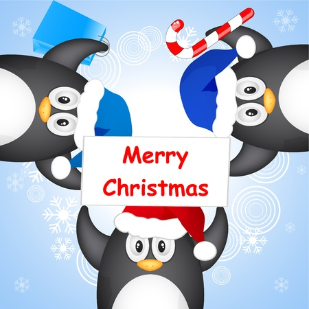 different christmas penguin Stock Vector - 10800956