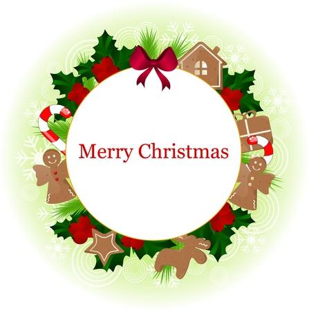 christmas frame  Stock Vector - 10834221
