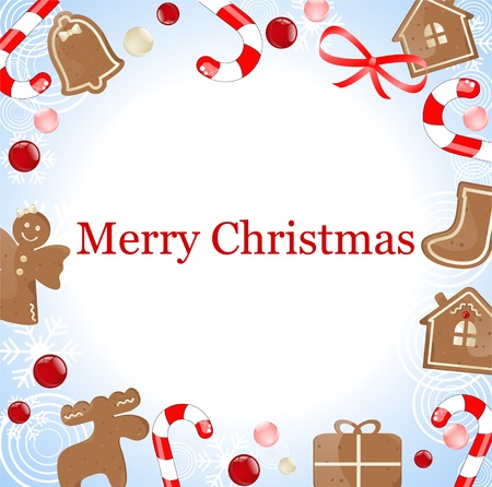 christmas frame with gingerbread cookie Stock Vector - 10834206