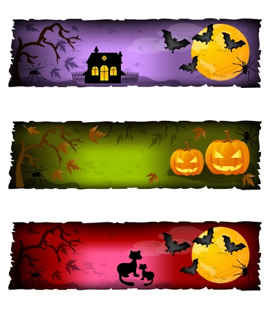 halloween banners Stock Vector - 10944087