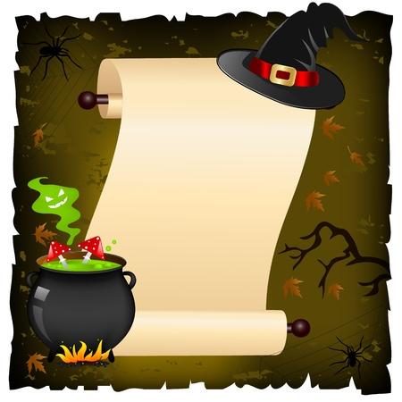 cauldron: halloween invitation Illustration