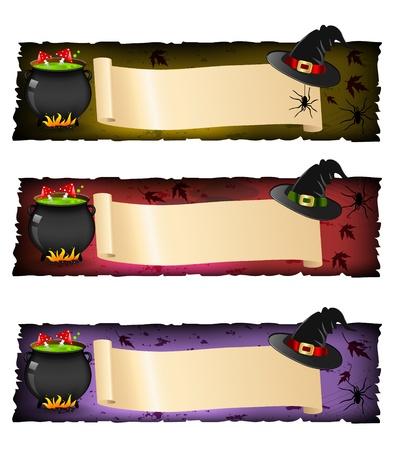 halloween banners Stock Vector - 10985750
