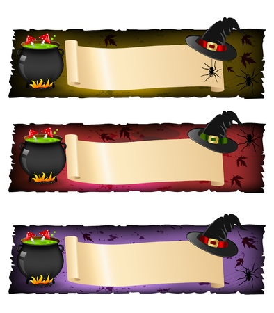 champignon magique: Halloween banni�res