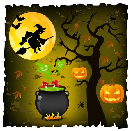 champignon magique: Halloween de fond Illustration