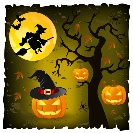 trees with thorns: halloween background
