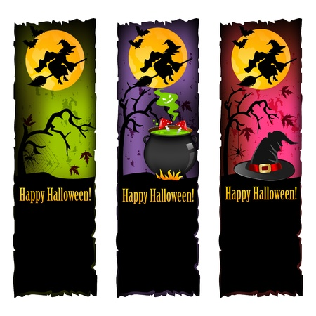 wicked witch: halloween banners