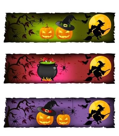 halloween banners Stock Vector - 10985766