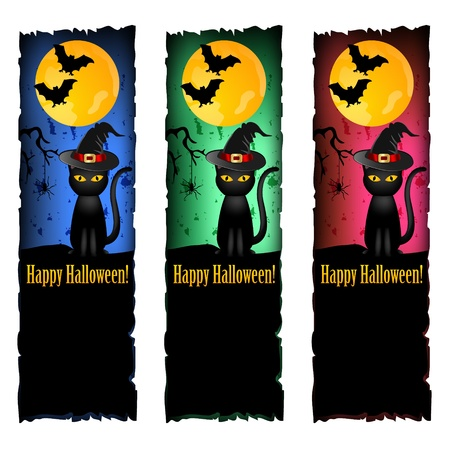 banery halloween Ilustracje wektorowe