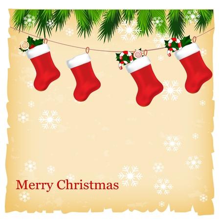 Kerstkaart met plaats voor uw tekst Vector Illustratie