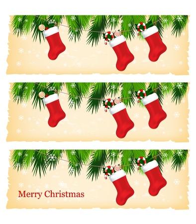 Weihnachten bunte Fahnen