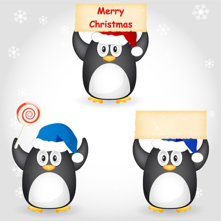 different christmas penguin Stock Vector - 11057575