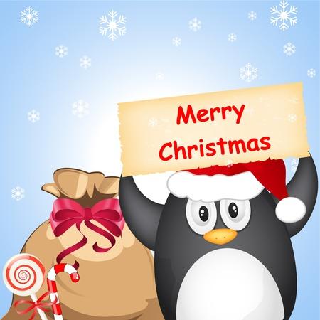 pinguinos navidenos: diferentes de ping�inos de Navidad Vectores