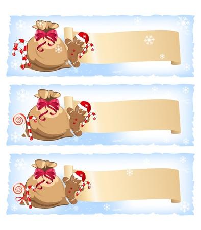 christmas cracker: christmas colorful banners