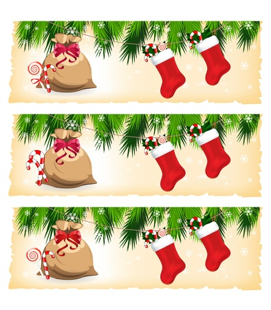 christmas colorful banners Vector
