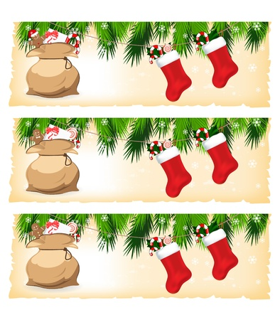 christmas colorful banners Stock Vector - 11057624