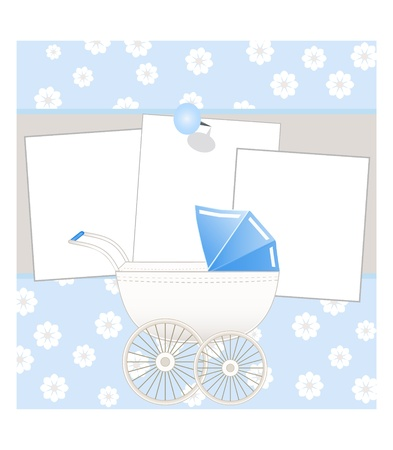 baby card with place for your text Vector