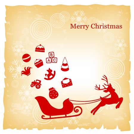 christmas greeting card Stock Vector - 11129250