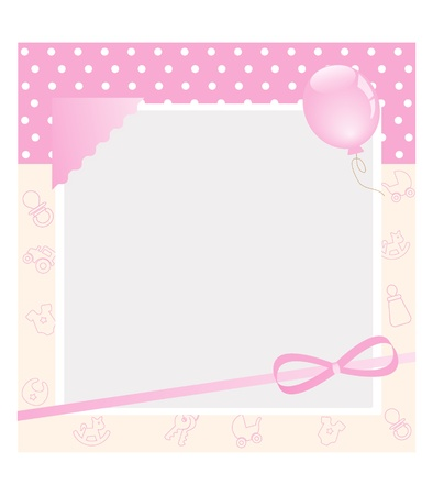 colored balloons: baby card