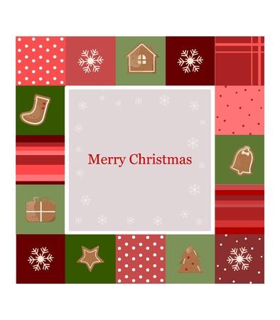 galletas de jengibre: Tarjeta de Navidad