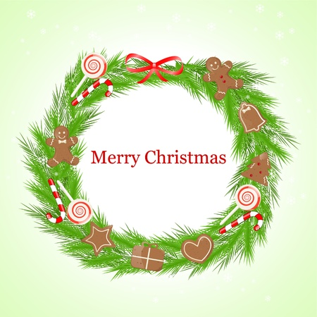 christmas wreath Stock Vector - 11195030