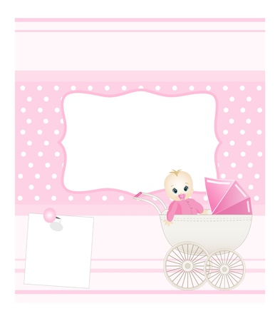 newborn baby girl: baby card