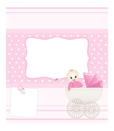 stroller: baby card