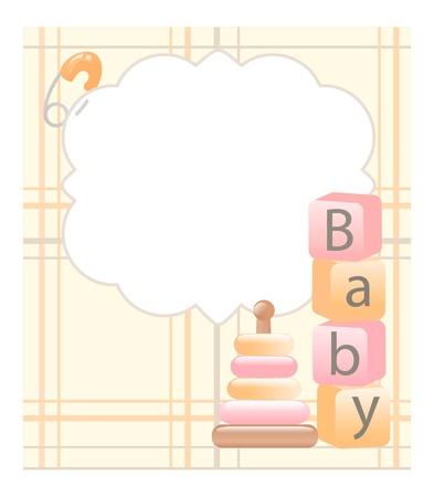 diaper pin: baby card