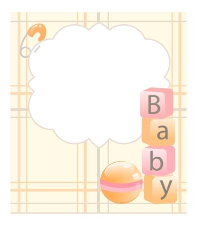 pelota caricatura: tarjeta de beb�