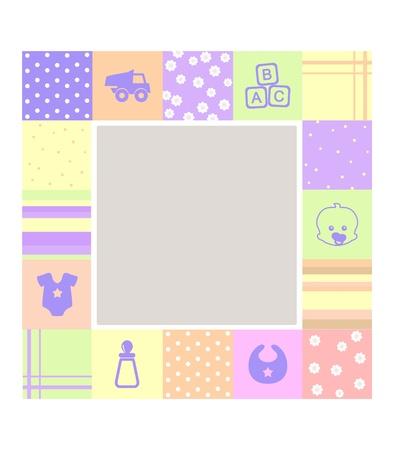 blankets: baby frame