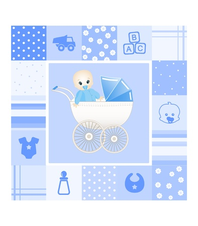 message in a bottle: baby card