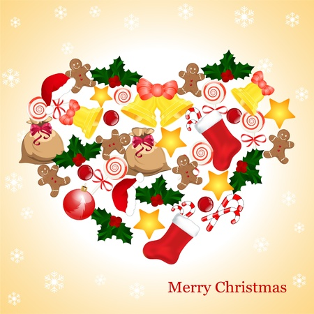 christmas card with place for your text Vector