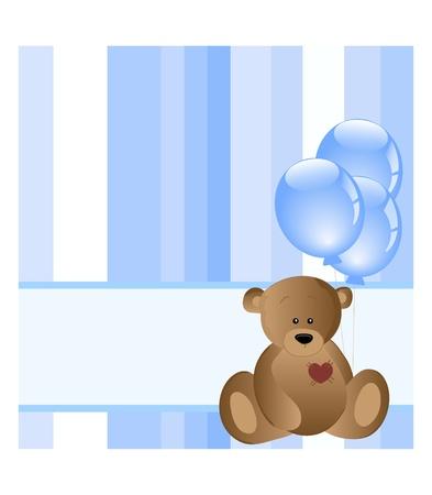 vintage teddy bears: carta di bambino
