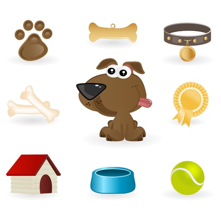 dog stuff Vector