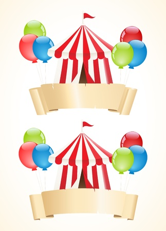 performing arts event: Circus banners
