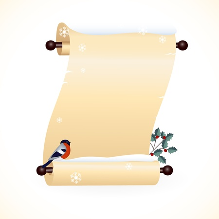 holly day: Scrolled paper