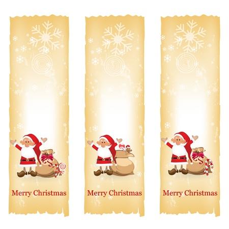 vertical banner: Christmas banners Illustration