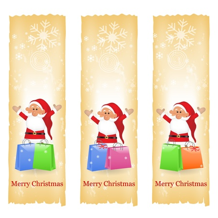 vertical image: Christmas banners Illustration
