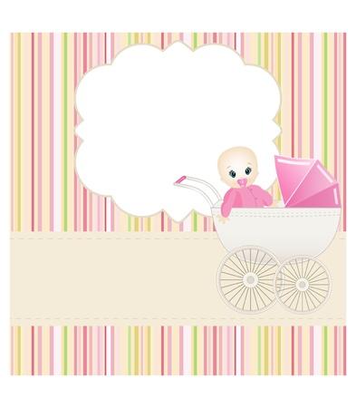 Bebé de tarjetas Ilustración de vector