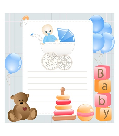 Baby card Stock Vector - 11898460