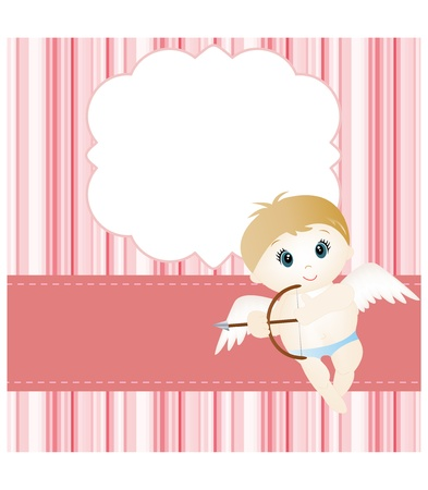 valentine cherub: Valentine card