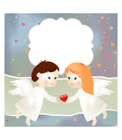 angel girl: Valentine card