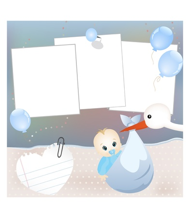 stroller: Baby card Illustration